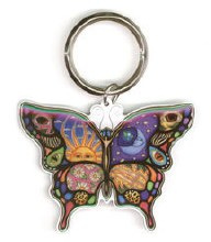 Sun Moon Butterfly Keychain