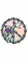 Grateful Dead Dancing Bear Peace Dove Sticker