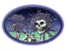 Grateful Dead Bertha Holding Roses Batik Sticker
