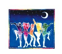 Batik Dancers Sticker