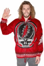 Grateful Dead Alpaca Steal Your Face Red Alpaca Jacket