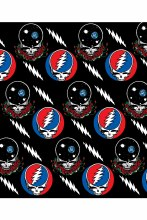 Grateful Dead Steal Your Face Jumble Fleece Blanket