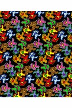 Grateful Dead Bear Jumble Fleece Blanket