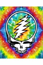 Grateful Dead Steal Your Face Tie Dye Fleece Blanket