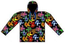 Grateful Dead Dancing Bears Jumble Fleece Blanket Pullover