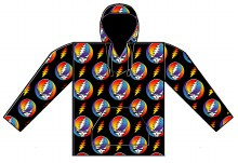 Grateful Dead Steal Your Face Rainbow Fleece Blanket Pullover