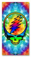 Grateful Dead Steal Your Face Tie Dye Beach Towel