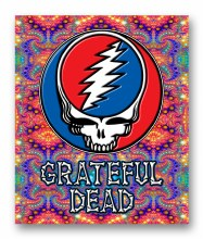 Grateful Dead Steal Your Face Fractal Fleece Blanket