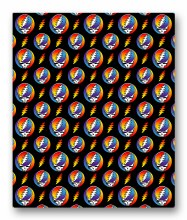 Grateful Dead Steal Your Face Rainbow Fleece Blanket