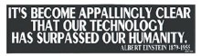 Einstein Quote Bumper Sticker