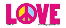 Peace Love Sticker
