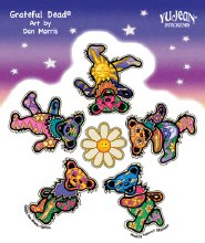 Grateful Dead Daisy Dancing Bear Sticker
