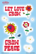 Let Love Grow Peace Sticker Set