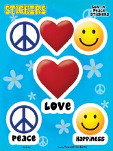 Peace Love and Happiness Sticker Set