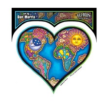 Heart World Sticker