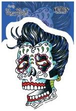 Sugar Skull Elvis Sticker