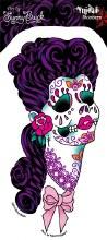 Sugar Skull Lady Sticker