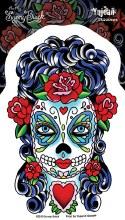 Sugar Skull Butterfly Sticker