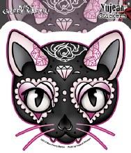 Miss Cherry Diamonds Cat Sticker