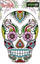 Sugar Skull Lace Sticker