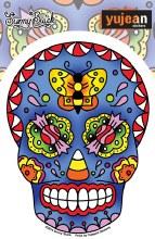Sugar Skull Candy Butterfly Sticker