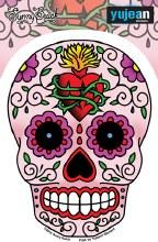 Sugar Skull Sacred Heart Sticker