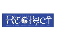 Practice Respect Bumper Sticker