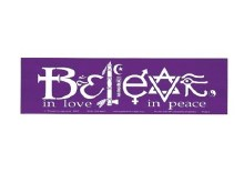 Believe In Love Bumper Sticker