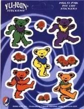 Grateful Dead Dancing Bear Multiple Sticker Set