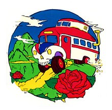 Hippie Bus Sticker