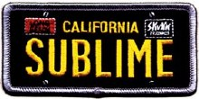 Sublime License Plate Patch