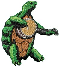 Grateful Dead Turtle Banjo Playing Patch