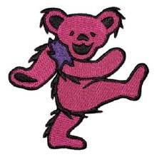 "Grateful Dead Bear Pink 3.5"" Patch"