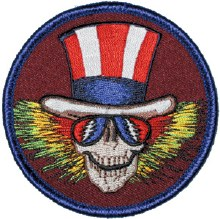 Grateful Dead Cycle Sam Top Hat Patch