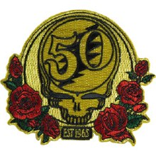Grateful Dead 50th Anniversary Metallic Red Patch