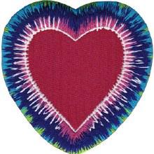 Tie Dye Heart Patch