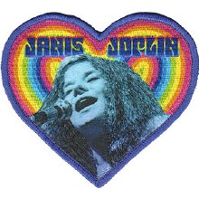 Janis Joplin Heart Patch