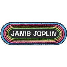 Janis Joplin Rainbow Logo Patch