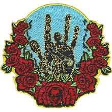 Grateful Dead Jerry Hand and Roses Patch