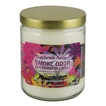 Patchouli Amber Smoke Odor Exterminator Candle