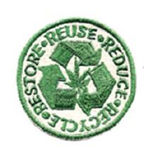 Reduce Restore Reuse Recycle Hemp Patch