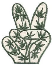 Peace Hands Hemp Patch