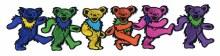 Grateful Dead 6 Dancin Bears Line Patch