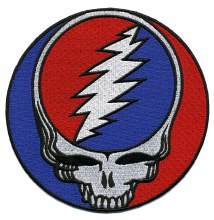 Grateful Dead Steal Your Face Extra Large Patch