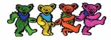 "Grateful Dead Dance Bears 6"" Patch"