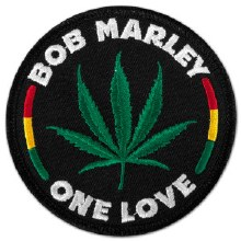 Bob Marley One Love Leaf Patch