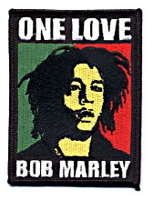 Bob Marley One Love Square Patch