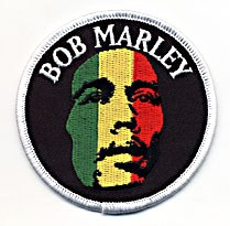 Bob Marley Rasta Face Patch