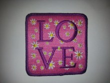 Love Daisy Square Patch