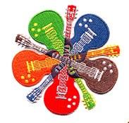 Guitar Circle Patch